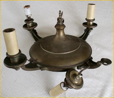 Title: Restored Antique and Period Lighting - Description: Harris House Antique Lighting web page showing before and after pictures of some of our restoration projects.